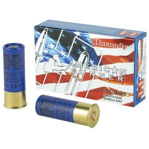 "Hornady American Gunner 12 GA Rifle Slug 5-Rounds 2.75"""