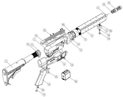 M4 Upper Receiver Diagram, M4, Free Engine Image For User