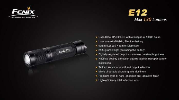 Fenix E12 review