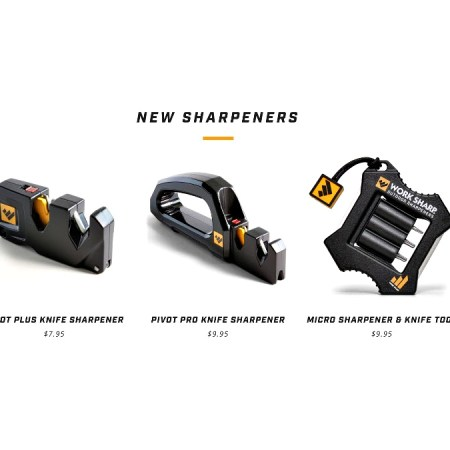 New line of knife sharpeners from Work Sharp Outdoors.