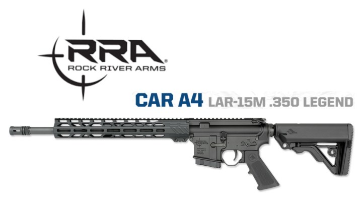 The RRA LAR-15M .350 Legend comes standard with a six-position Operator CAR stock, overmolded A2 pistol grip, and 13-inch extended lightweight free-float handguard covering a low-profile gas block and CAR-length gas system.