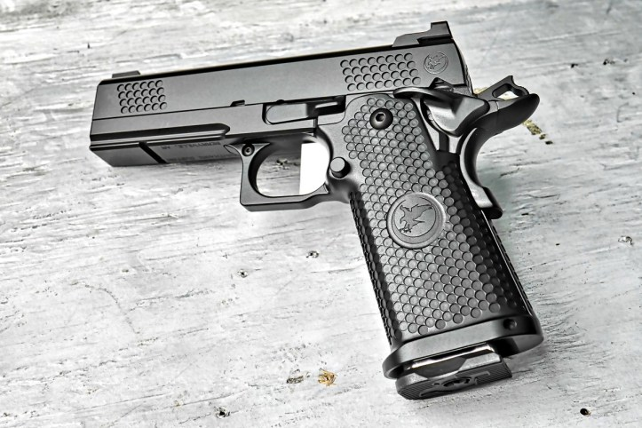 The TRS Commander is a 9mm with a double-stack 17-round capacity. Nighthawk Custom says this pistol is ideal for concealed carry.