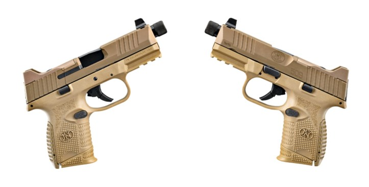 FN 509 Compact Tactical pistol - 9mm in FDE.