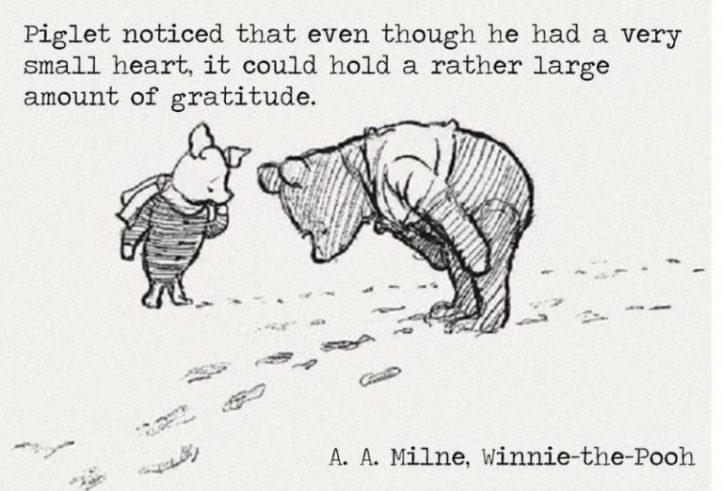 Piglet - attitude of gratitude