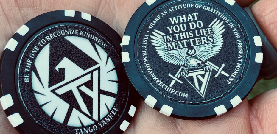 Tango Yankee Project Chips - recognize kindness - attitude of gratitude