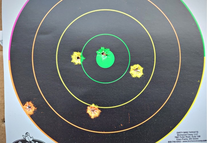 Rapid fire at 10 yards. The Springfield Hellcat 9mm micro-compact pistol is as accurate as most full-sized service pistols.