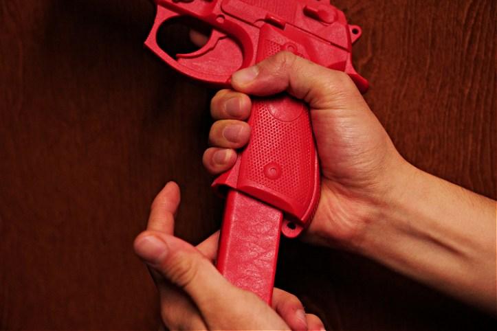 ASP red training gun Beretta 92, magazine release