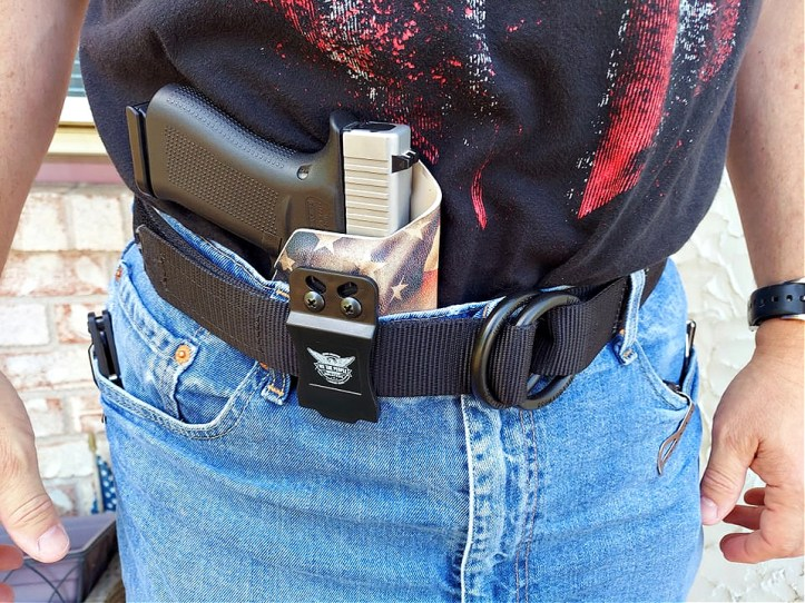 Glock 19X in We the People holster, appendix carry.