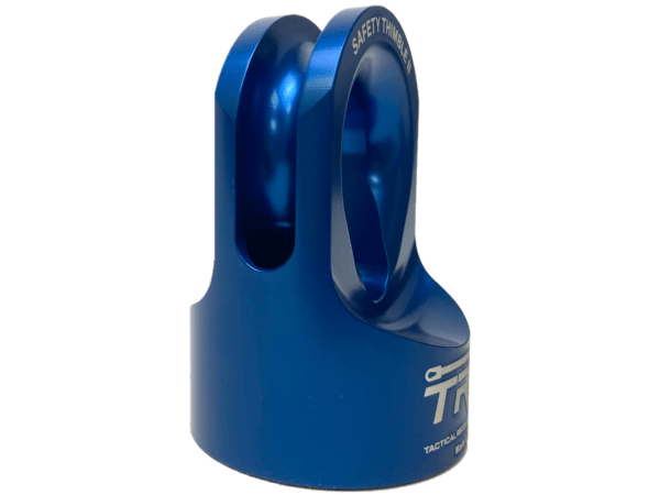 Side View - Blue Safety Thimble II