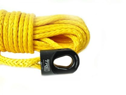 """1/4"""" Yellow Winch Rope & Safety Thimble"""