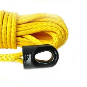 "1/4"" Yellow Winch Rope & Safety Thimble"