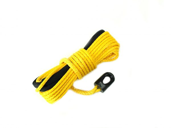 1/4 Inch Yellow Synthetic Winch Rope