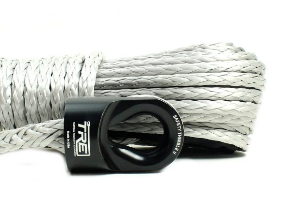 """3/8"""" Silver Winch Rope & Safety Thimble"""