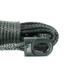 """1/4"""" Black Winch Rope & Safety Thimble"""