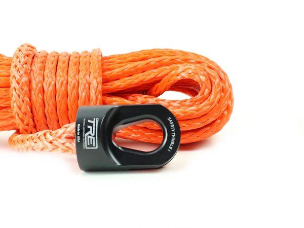 """1/4"""" Orange Winch Rope & Safety Thimble"""