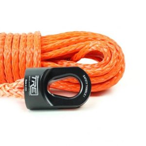 "1/4"" Orange Winch Rope & Safety Thimble"