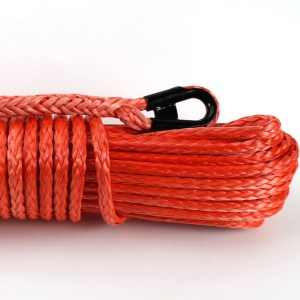 """3/8"""" x 85 ft. Orange Synthetic Winch Rope -"""