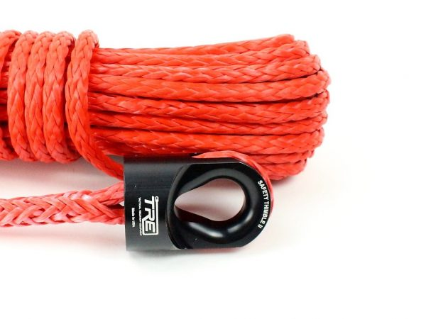 """3/8"""" Red Winch Rope & Safety Thimble"""