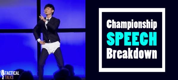 darren tay toastmasters world champion of public speaking 2016 matt kramer tactical talks politician speech