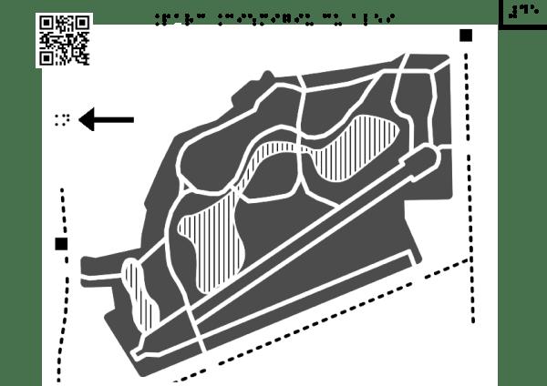 Harta Grădinii Cișmigiu cu alei principale