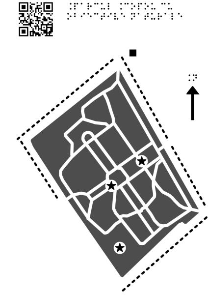 Harta Parcului Copou din Iași cu obiective naturale