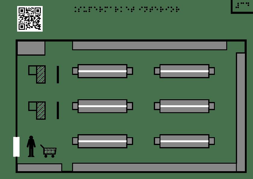 Supermarket interior – plan aerian