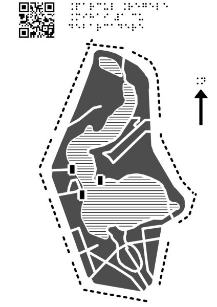 Harta Parcului Regele Mihai Întâi cu debarcadere