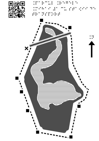 Harta Parcului Regele Mihai Întâi cu stații de transport