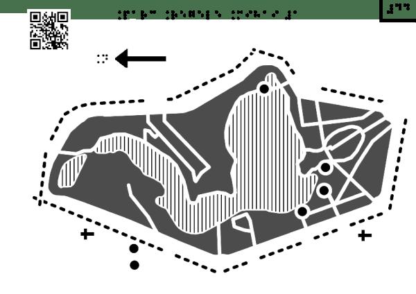 Harta Parcului Regele Mihai Întâi cu obiective culturale