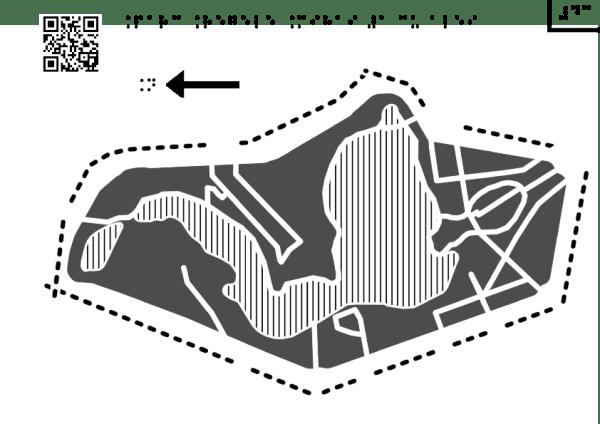 Harta Parcului Regele Mihai Întâi cu alei principale