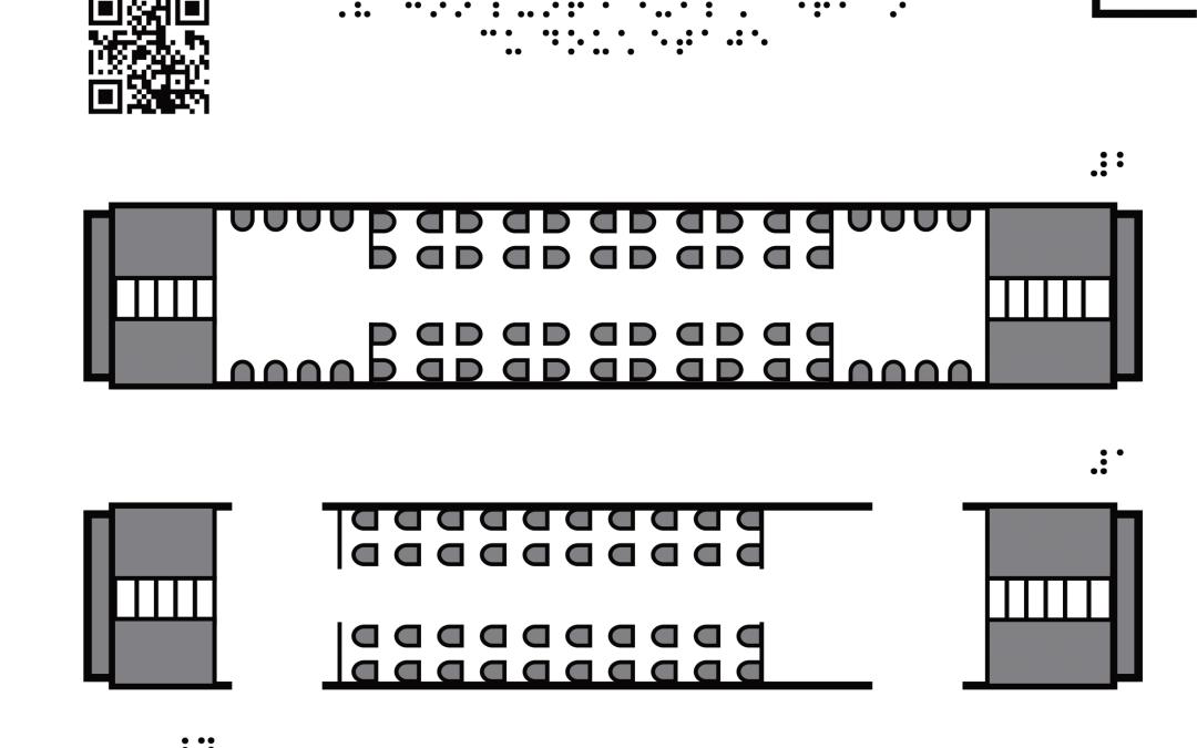 Vagon punte dublă interior – plan aerian