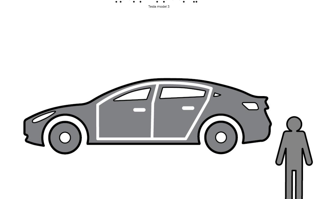 Mașina Tesla Model Trei