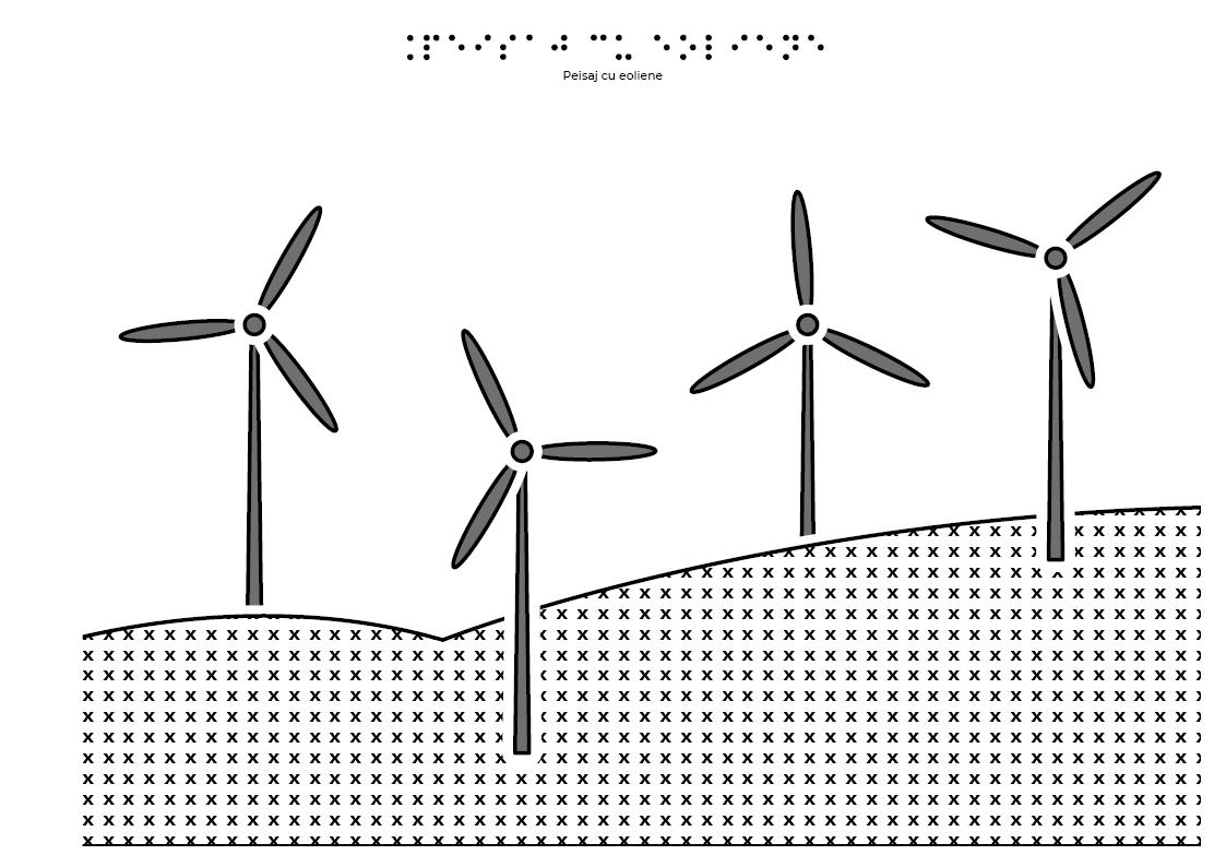 Peisaj cu turbine eoliene
