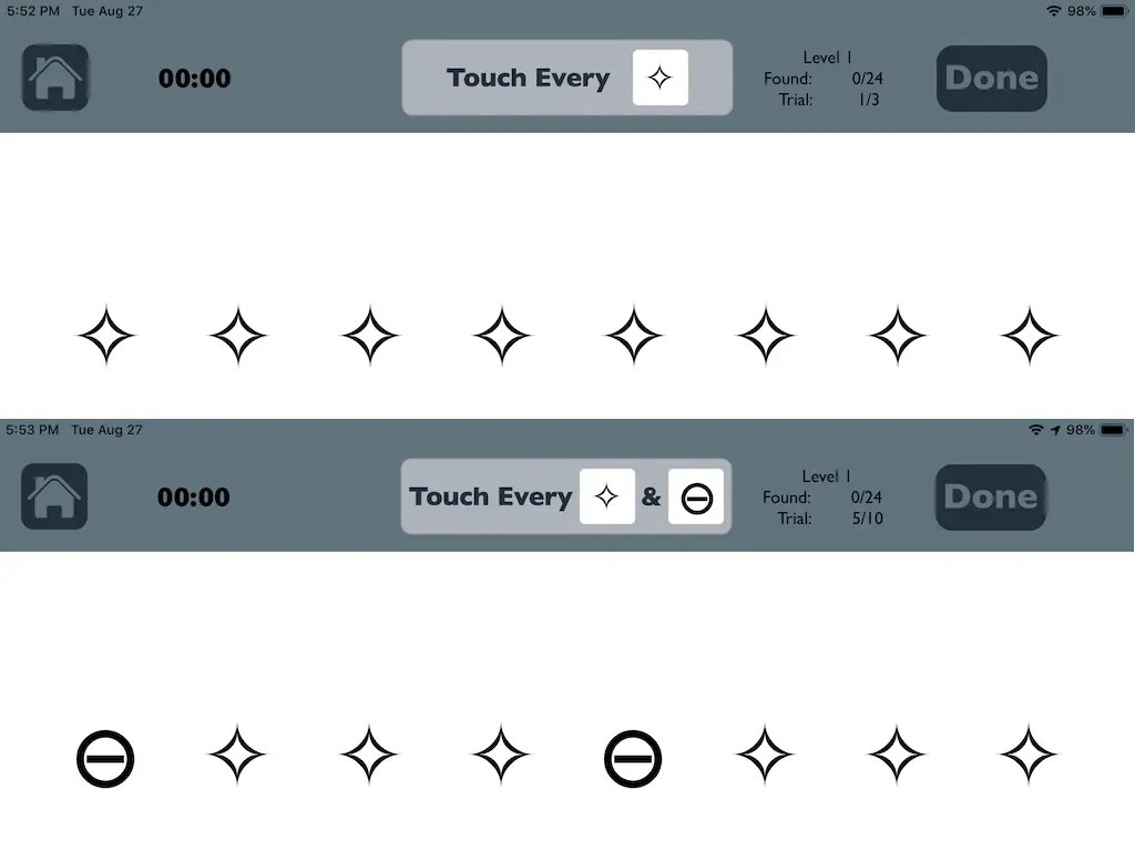 Visual Attention Therapy App For Left Neglect On Ios
