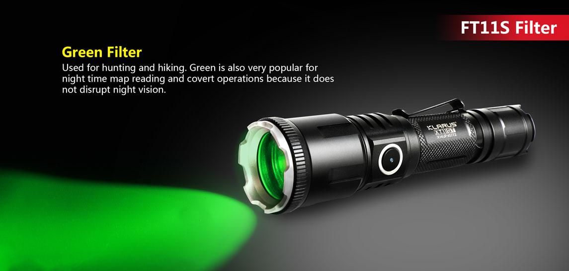 Klarus FT11S - Green Aluminum Alloy Color Filter