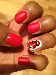 day 1 red nails boxing gloves