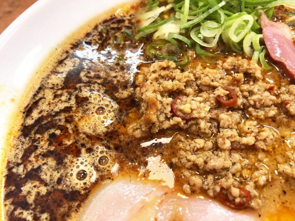 麺匠 うえ田「渚の担担麺」ひき肉