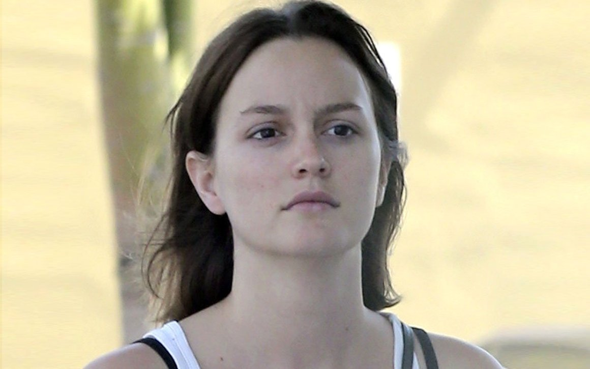 Leighton Meester no makeup