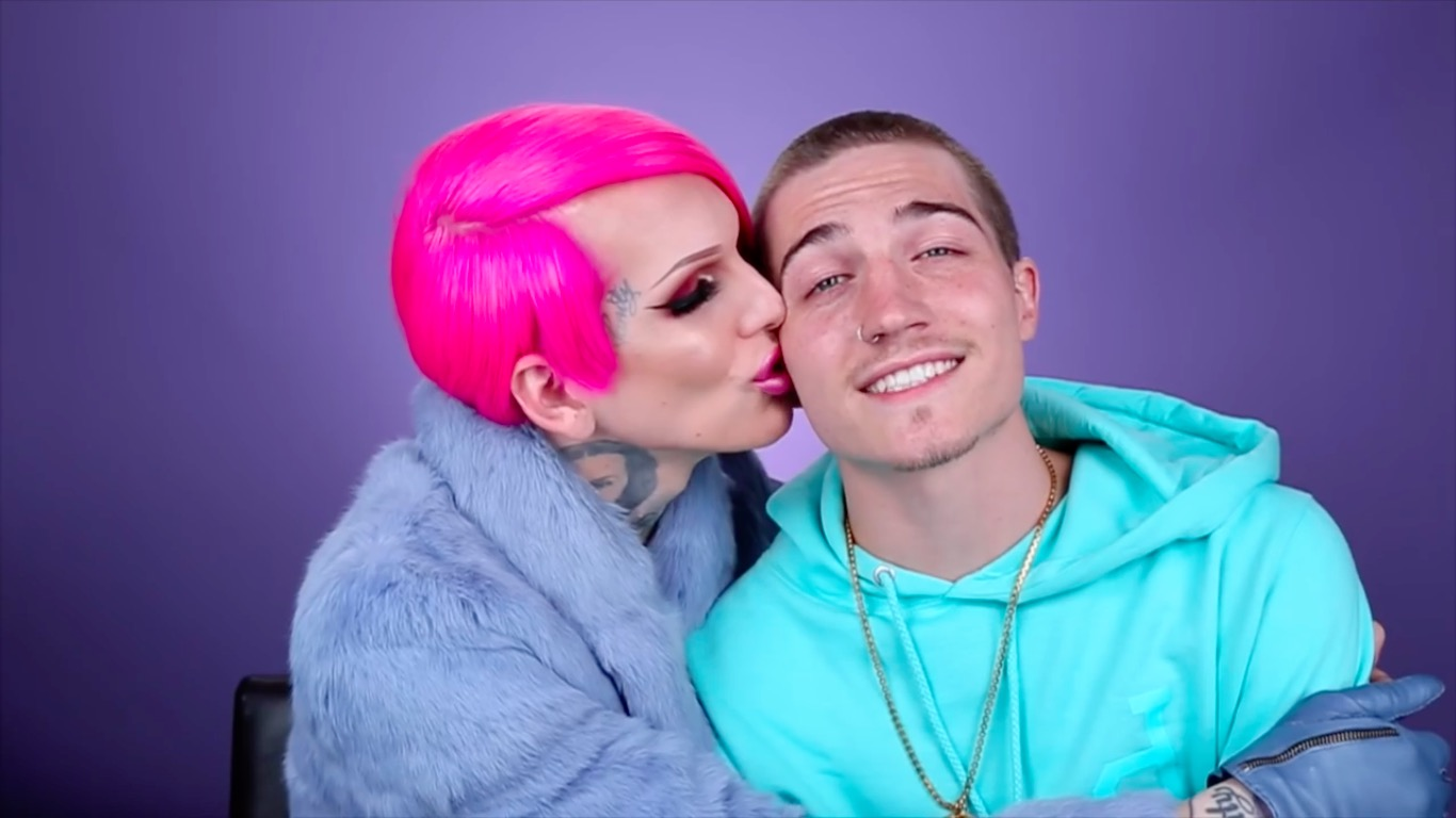 Jeffree Star with Kæreste Nathan Schwandt