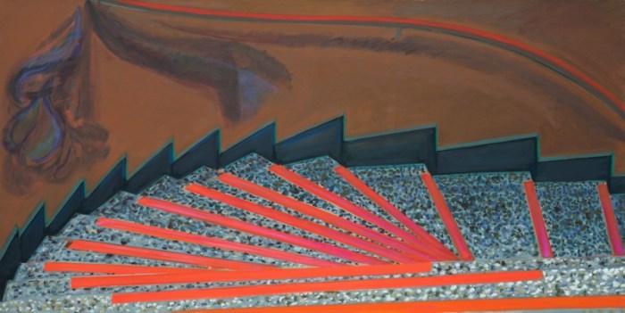 1979 11 05 Lila Eule Öl auf Leinwand 105x200 cm