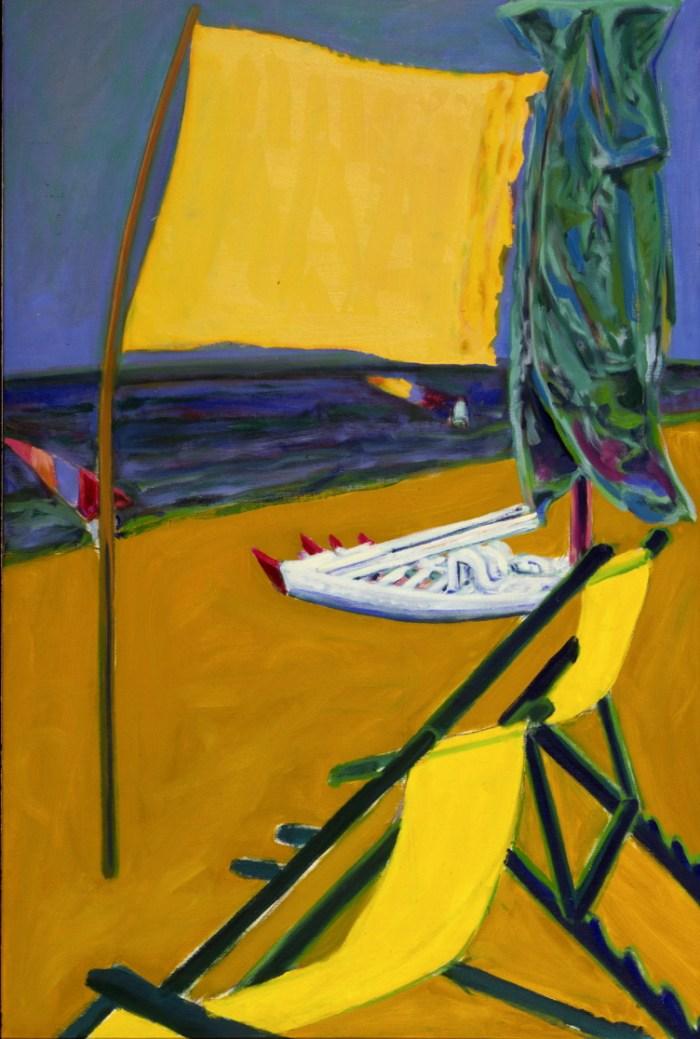 1984 03 06 Thyrrenisches Meer Öl auf Leinwand 148x100 cm