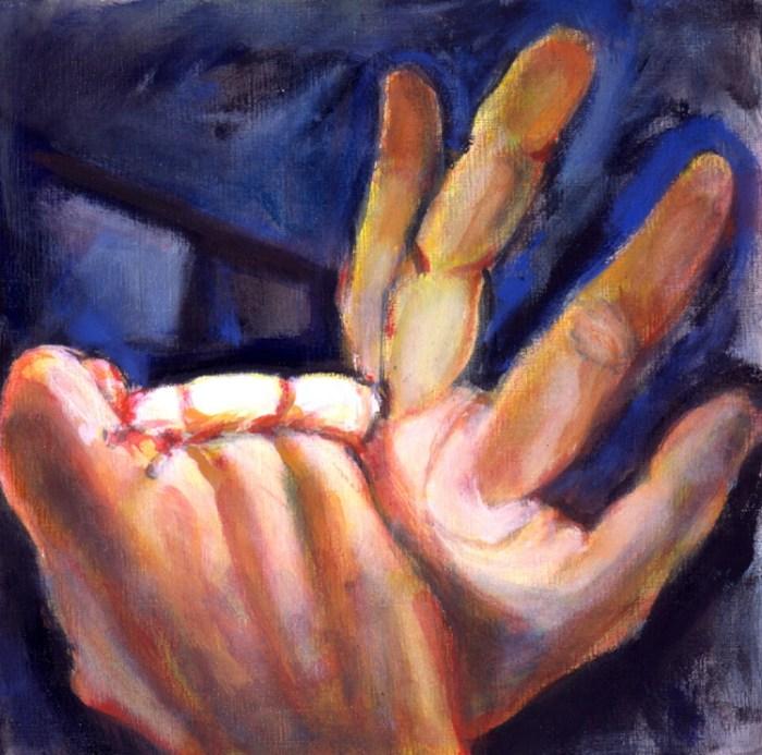 2008 24 03 China Finger III Acryl auf Leinwand 50x50 cm