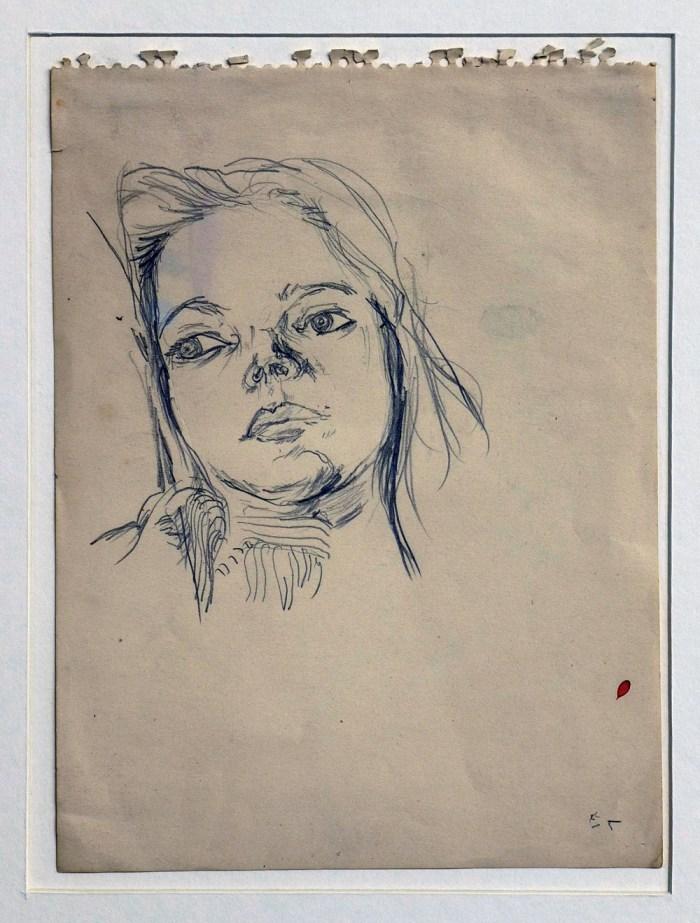 1965 03 03 o.T. Graphite auf Papier 242x18 2