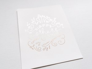 Mother's Day Card with Reactive Foil
