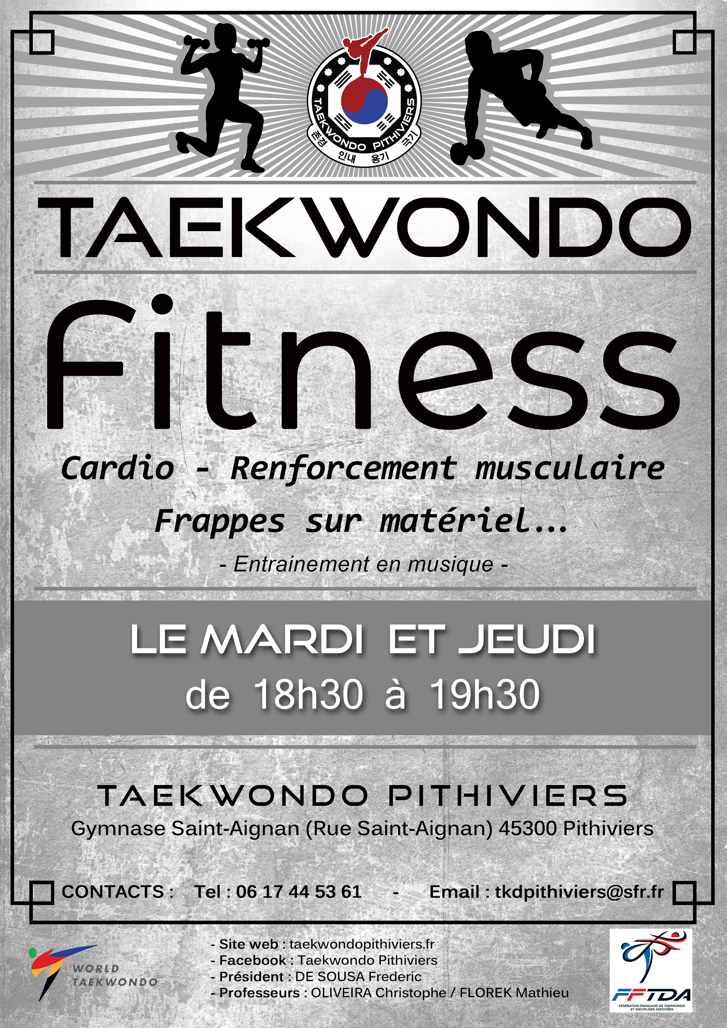 lieu et horaires taekwondo pithiviers