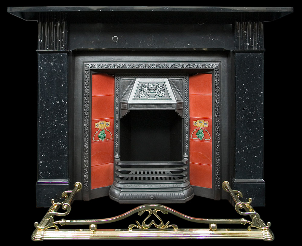 Fireplace Design Dimensions Victorian Black Marble Fire Surround