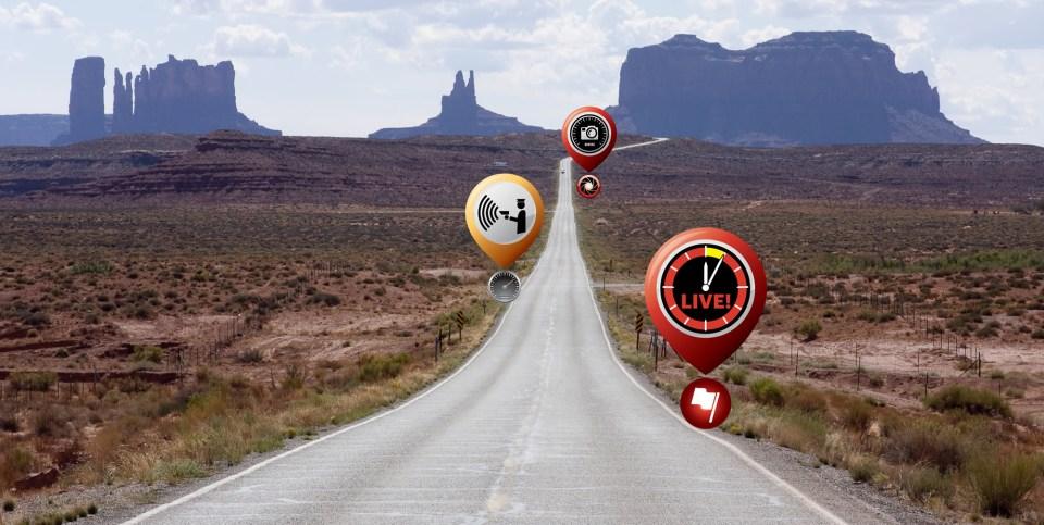 TagAcam live speed trap alerts