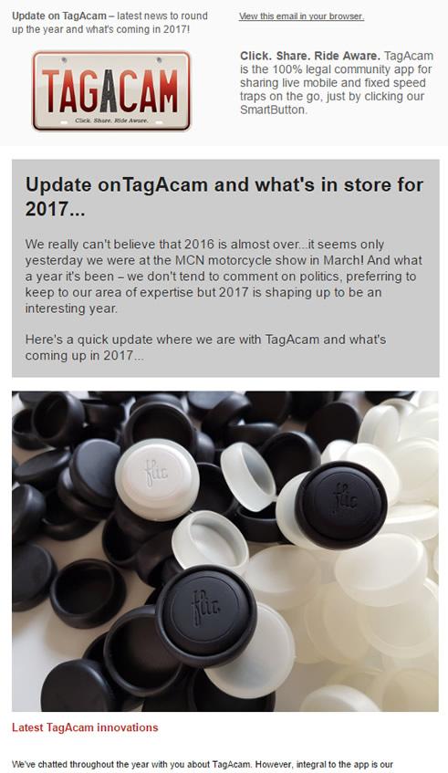 TagAcam's fourth newsletter