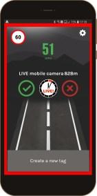 TagAcam Live speed trap screenshot