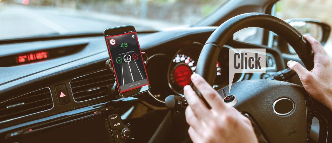 TagAcam SmartButton is easy to install in your car